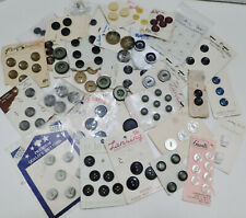 Big Lot 120 Vintage Buttons Various Assorted Sizes Styles Colors Sets Crafts