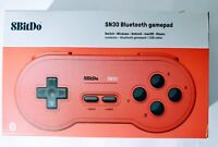 8BitDo SN30 Bluetooth Gamepad Retro Red Switch Windows Android macOS New Sealed