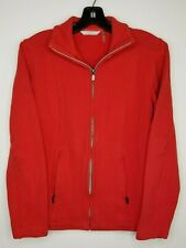 Lady Hathaway Sweater size Small Red Womens Long Sleeve Full Zip Knit jacket