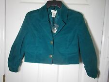 Maurices Girl's Long Sleeve Crop Faux Suede Button Up Jacket Size XL