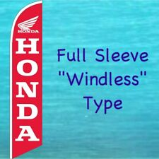 HONDA RED WINDLESS BANNER FLAG Tall Motorcycle Advertising Sign Feather Swooper