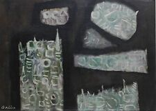 PAUL BODIN-ASL of NY Expressionist-Original Signed Oil-Abstract Geometric