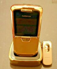 NEW UNUSED NOKIA 8800 GOLD UNLOCKED MOBILE MADE IN GERMANY WITH ACCESSORIES