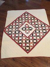 Beautiful Vintage Hand Made Pinwheel Pattern Quilt 60x51