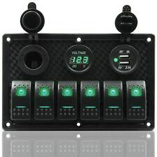 Impermeable Banda 6 LED Cuadro de mandos Disyuntor Para Coche Marina Barco