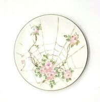 Vintage Epiag Czechoslovakia Bridal Rose Pink White Hand Painted Mary Toth Plate