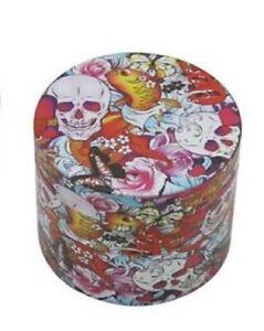 50 MM Skull Tobacco Herb Grinder Zinc Alloy