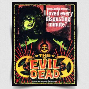 EVIL DEAD SIGN METAL PLAQUE Film Movie Advert Zombie poster print cinema