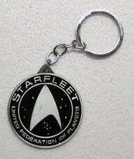STAR TREK Black Starfleet Federation of Planets KEY CHAIN Ring Keychain NEW