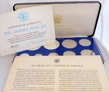 1976 Jamaïque 9 pièce de monnaie épreuve sertie certificat et luxe bleu marine