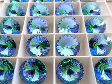 2 Light Turquoise Glacier Blue Swarovski Crystal Rivoli Stone 1122 14mm