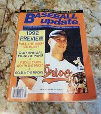 Cal Ripken Jr 1992 BASEBALL UPDATE MAGAZINE Orioles HOF