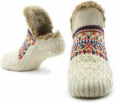 Slipper Fluffy Socks for Women Men Heat Holding Sock Knitted Sherpa Non Slip