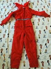 Sears Vintage Snowmobile Jump Suit 1980's Woman S 8/10 Unused with Tags Red