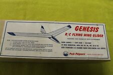 """Peck Polymers, """"Genesis"""" Flying Wing R/C balsa Glider, 59"""" Vintage!"""