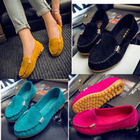 Women Lady Summer Loafers Moccasin Comfort Casual Flat Pumps Platfrom Boat Shoes