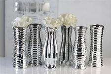 Vase Carlton silber Porzellan Höhe 22,5 cm
