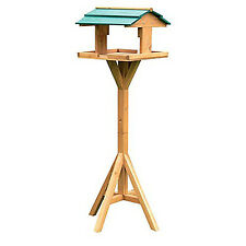 Traditionnel en Bois Oiseau Jardin Table Chargeur Station d'alimentation autoportante BF009