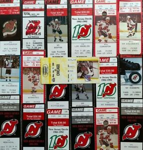 BIG LOT of 19 Hockey Home Rink Ticket Stubs NEW JERSEY DEVILS 1983 - 1995 NHL #2