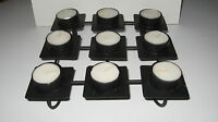 Black Metal 9 Candle Tealight Holder