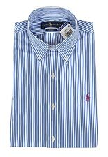 Ralph Lauren Polo Slim Fit Bengal Striped Poplin Dress Shirt New