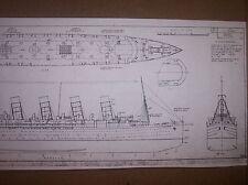 SS LUSITANIA ship boat model plans