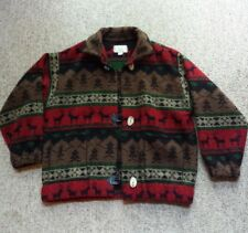 Womens Custom Native American Wool Blanket Jacket Northwood Indian Tribal Coat M