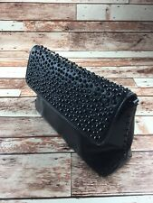 Zara Basic Black Studded Crossbody Clutch Purse