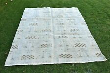 Turkish Hand Knotted Traditional Tribal Oushak Wool Rug
