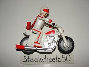 """Disney Pixar Toy Story 4 Pull N Go Duke Kaboom W/ Motorcycle Thinkway Toys 4"""""""