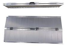 Rollstuhlrampe 152 cm 272 kg klappbar faltbar Alu Auffahrrampe Aluminium
