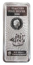 Cook Islands 2021 Münz Barren  10 oz 999 Silber in OVP Folie - Anlage Invest -