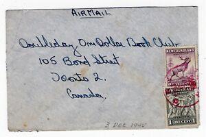 Newfoundland - Avalon FMO 1945 Fleet Mail Office - Navy Post Office Cover -
