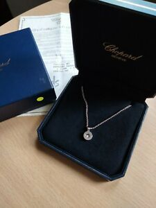 Chopard Happy Diamond Necklace 18ct White Gold + Certificate & boxes