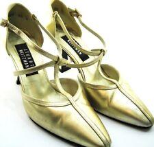 Stuart Weitzman Women Heels Size 5.5 B Gold Style 15024 Hell Height 2.75 Inches