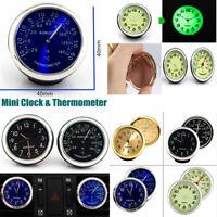 Voiture Quartz Horloge Thermomètre Auto Intérieur Ornement Pr Air Condition Vent