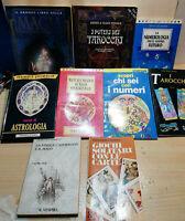 9 Libri Lotto stock Tarocchi, Astrologia, Magia, Numerologia,Divinazioni