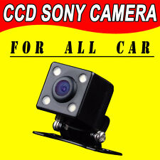 CCD mini universal car camera for all kinds of cars with 4 LEDS dual cam lens HD