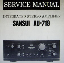 SANSUI au-719 Integrated ST AMP Service Manual inkl. verfahrene bedruckt gebunden englisch