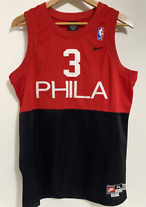 ALLEN IVERSON Philadelphia 76ers Jersey PHILA Nike Swingman Black YOUTH XL