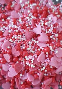 Valentine Sprinkle Mix 50g Wedding/Valentines  Edible Cake/Cupcake Decorations