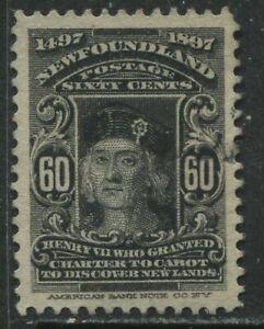Newfoundland 1897 Cabot 60 cents used