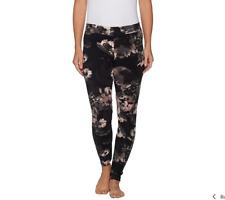 Cuddl Duds Fleecewear Stretch Leggings Color Black/Floral Size M