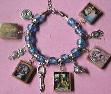 Goddess Athena Charm Bracelet   Blue & Silver