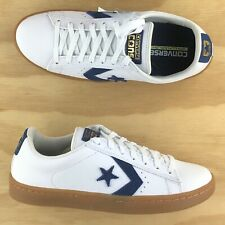 Converse Pro Leather Skate Ox Low Top White Navy Blue Gum Sneakers 147510C Size