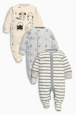 ВNWT NEXT Babygrows Playsuit • Oatmeal Animal Sleepsuits • 100% Cotton •0-3 mons