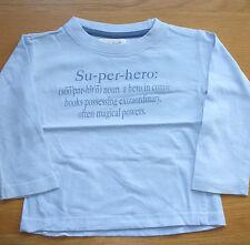 Boys 'Su-per-hero' Long Sleeved T-Shirt - Size: 18-23 months