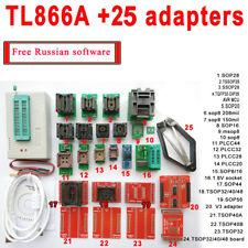 TL866A programmer +25 adapters TL866 AVR PIC Bios 51 MCU Flash EPROM Programmer