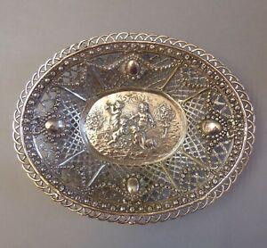 Jugendstil Silberschale Korbschale Korb Putten Relief 800 Silber punziert um1920