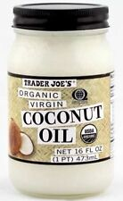 Trader Joe's Organic Virgin Cold-Pressed & Unrefined Coconut Oil 16 OZ Jar New